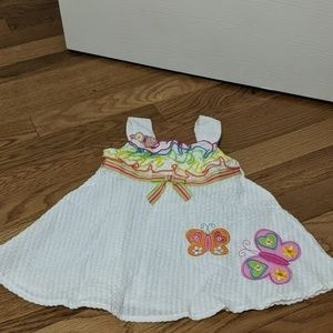 Youngland baby girl dress size 12months butterfly